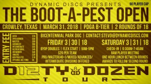 Dynamic Discs Presents the Boot-A-Pest Open graphic