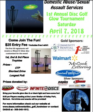 Glow Golf Fundraiser - Domestic Abuse/Sexual Assault Services graphic