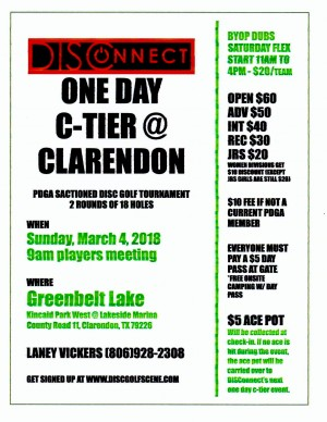 DISConnect One Day C Tier @ Clarendon graphic