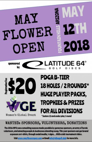 WGE May Flower Open Sponsored by Latitude 64 graphic