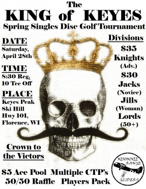 King of Keyes Spring Singles Tournament 2018 graphic
