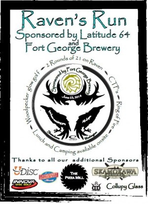 Raven's Run Sponsored by Latitude 64 & Fort George Brewery graphic