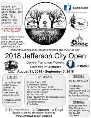 MidAmInsurance.com  Presents: 2018 Jefferson City Open Sponsored by Latitude 64 graphic