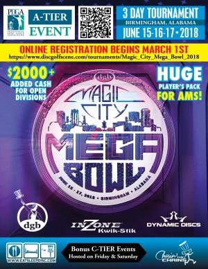 Magic City Mega Bowl sponsored by Dynamic Discs graphic