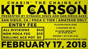 Chasin the Chains at Kit Carson presented by Dynamic Discs and The SD Aces graphic