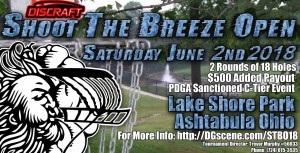 Discraft Shoot the Breeze Open 2018 graphic