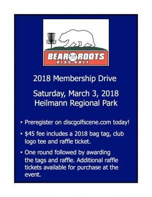 Bear Roots Disc Golf Membership Drive graphic