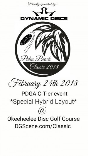Palm Beach Classic - Proudly Sponsored by Dynamic Discs graphic