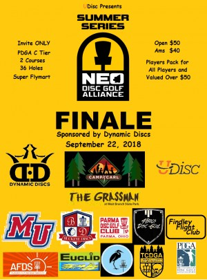 UDisc Presents The NEO Disc Golf Alliance Summer Series Finale Sponsored by Dynamic Discs graphic