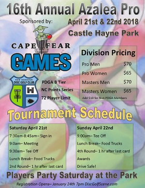The Azalea Open driven by Cape Fear Games graphic