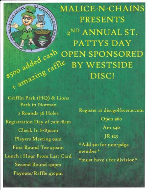 2nd Annual Malice~N~Chains St. Patrick's Day Open Sponsored by Westside Discs graphic