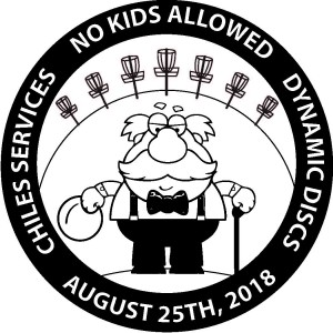 No Kids Allowed Masters, Chiles Services/Dynamic Discs/Latitude 64/Westside Discs graphic
