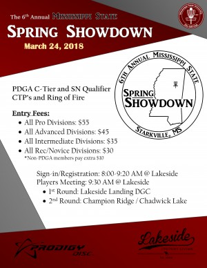 6th Annual Mississippi State Spring Showdown graphic