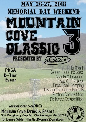 Mountain Cove Classic 3 Presented by Innova Discs graphic