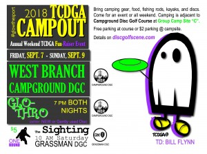 2018 TCDGA Campout - Glo Thro graphic