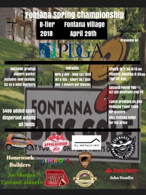 Fontana Spring Championship!  Presented by Prodigy Discs graphic