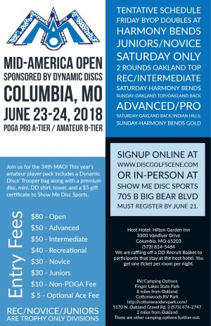 Mid America Open Sponsored By Dynamic Discs graphic