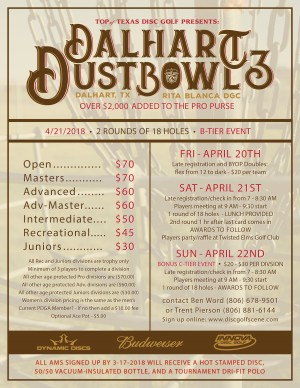 Top of Texas Disc Golf Presents: Dalhart Dust Bowl III graphic