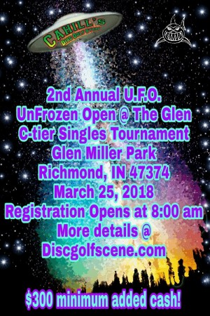 2nd Annual UnFrozen Open presented by Predator Disc Sports graphic