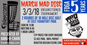 March Mad Disc graphic