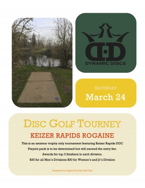 Keizer Rapids Rogaine graphic