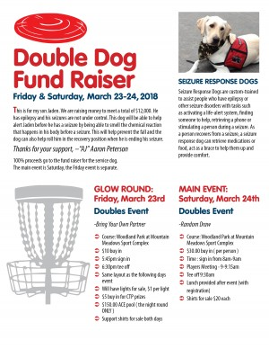 Double dog (epilepsy support) graphic