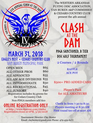 4th Annual Clash at the Dam graphic