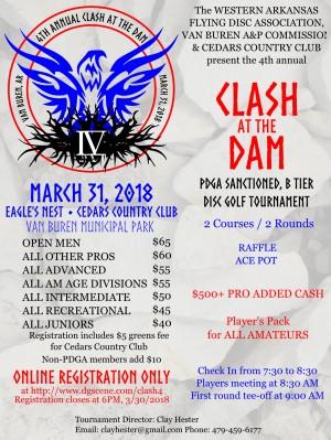 4th Annual Clash at the Dam graphic