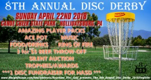 Keystone Disc Golf presents The 8th Annual Disc Derby graphic