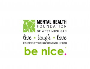 "The Mental Health Foundation of West Michigan ""be nice."" Doubles Disc Golf Tournment graphic"