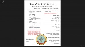 The 2018 Fun n Sun presented by The Tampa Bay Disc Sports Club (Open, Adv. Master, Adv. Sr. GM+) graphic