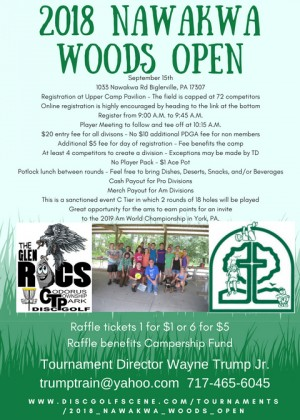 2018 Nawakwa Woods Open graphic