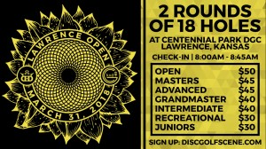 2018 Lawrence Open Presented By Dynamic Discs in association with Kaw Valley Disc Golf Club graphic