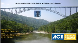 Ace Adventures 2nd Annual White Water Disc Golf Open graphic
