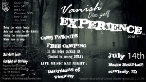 Vanish Disc Golf Experience graphic
