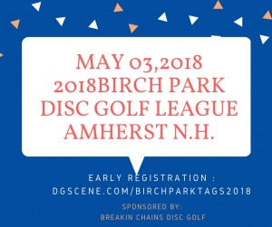 Breakin Chains Disc Golf Presents: Birch Park Tag League graphic