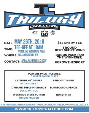 Trilogy Challenge presented by Appalachian Disc Golf graphic