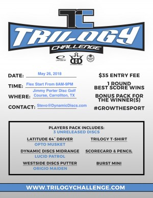 Dynamic Discs Carrollton Presents the 2018 Trilogy Challenge graphic