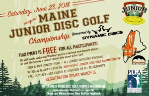 2018 Maine Junior Disc Golf Championship Sponsored by Dynamic Discs graphic