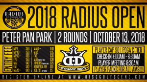 Radius Open sponsored by Dynamic Discs graphic