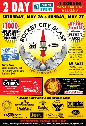 2018 Rocket City Blast Presented by Dynamic Disc graphic