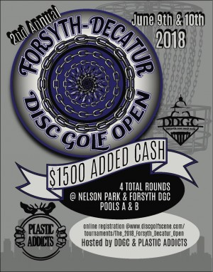 The 2018 Forsyth-Decatur Open graphic