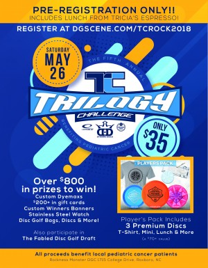 5th Annual Trilogy Challenge at the Rock Cancer Fundraiser graphic