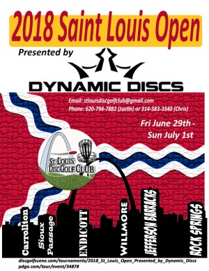 2018 St. Louis Open Sponsored by Dynamic Discs graphic