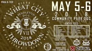 Wheat City Throwdown IX sponsored by Dynamic Discs, 208 Discs & Zuca graphic