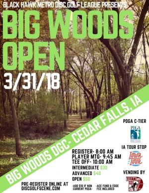Big Woods Open graphic