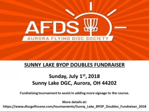 Sunny Lake BYOP Doubles Fundraiser graphic