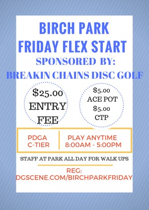 Birch Park Friday by Breakin Chains Disc Golf graphic