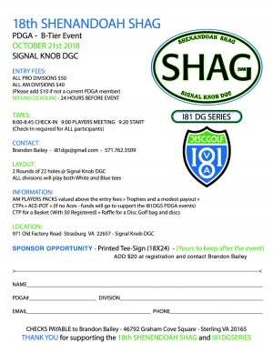 18th Shenandoah Shag - I81DGS Finale graphic