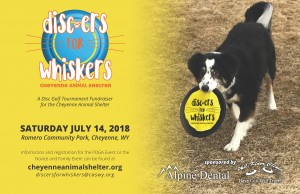 Cheyenne Animal Shelter Discers for Whiskers - Novice & Family graphic